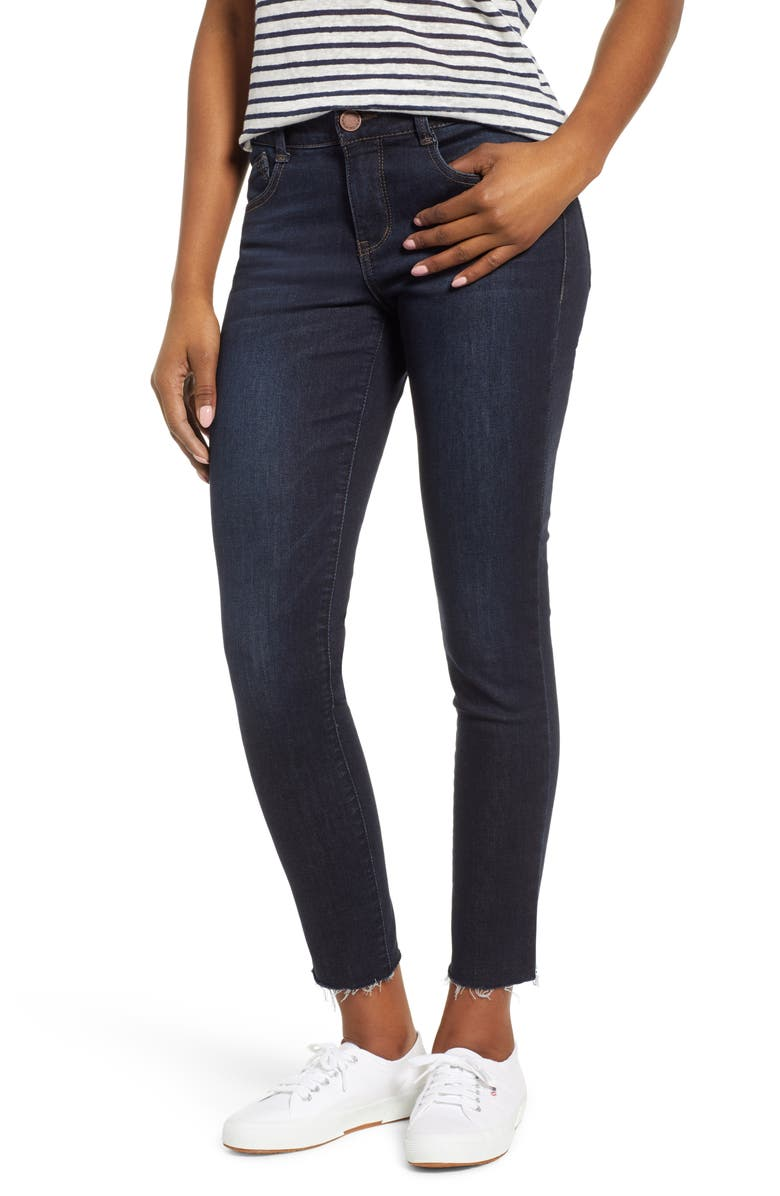 WIT & WISDOM Ab-Solution Raw Hem Skinny Jeans, Main, color, INDIGO