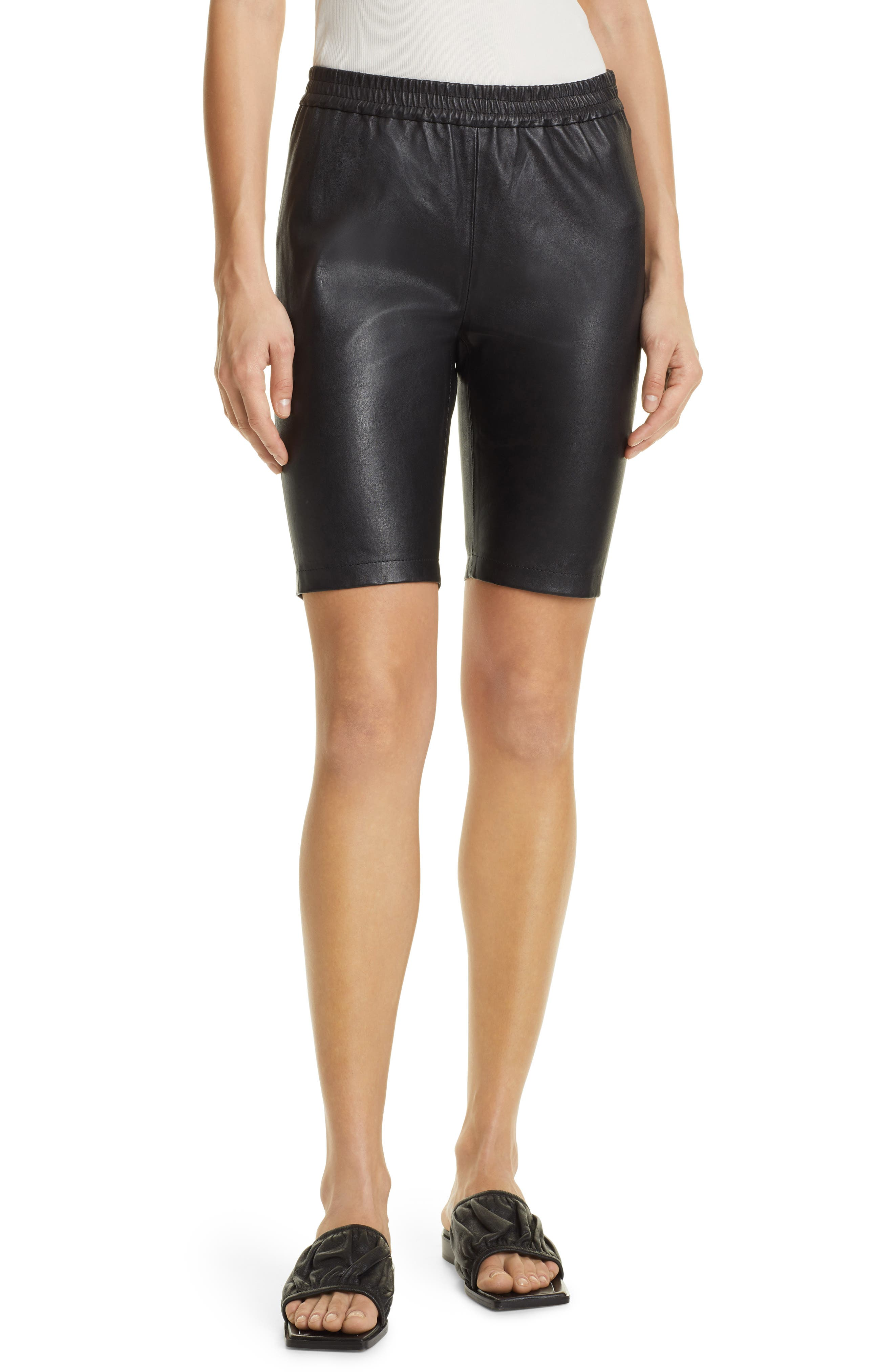 Leather Bike Shorts