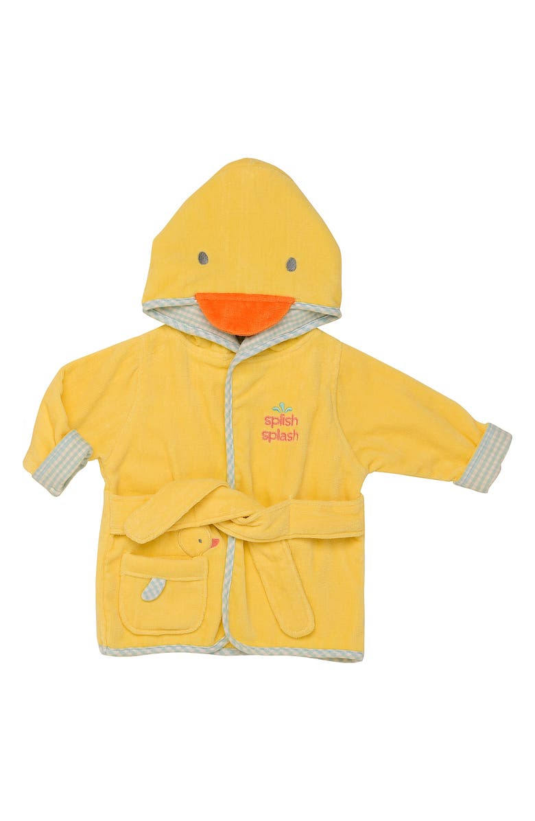 LITTLE ME Duck Velour Hooded Bath Robe, Main, color, 700