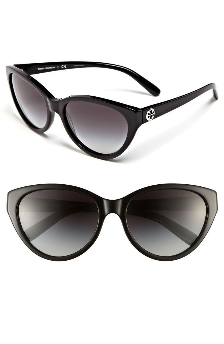 TORY BURCH 57mm Retro Sunglasses, Main, color, 001