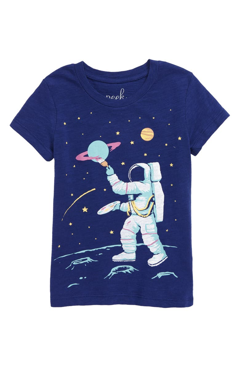 PEEK AREN'T YOU CURIOUS Stellar Space Graphic Tee, Main, color, 408
