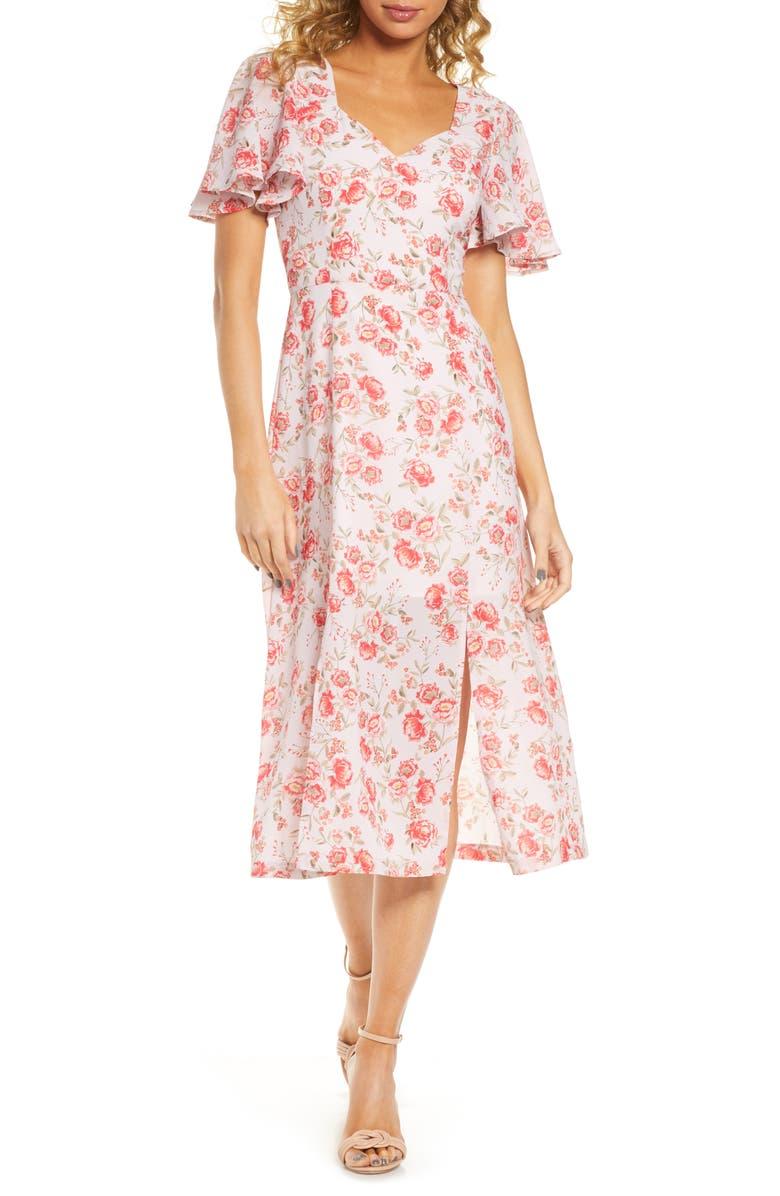 BB DAKOTA Endless Love Fairy Rose Dress, Main, color, ASH ROSE