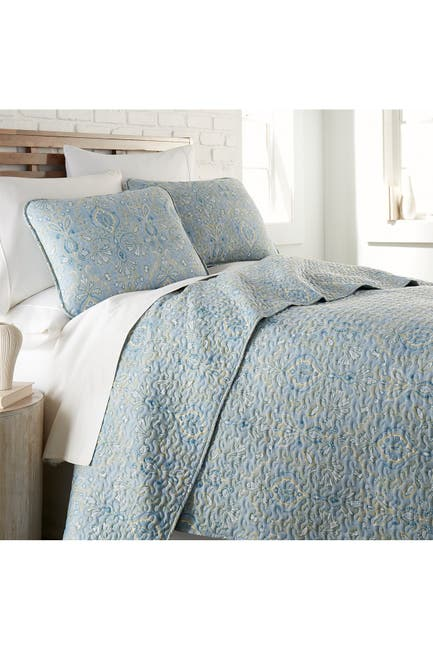 Image of SOUTHSHORE FINE LINENS Luxury Collection Premium Ultra-Soft Quilt Cover Set - Blue, Full/Queen