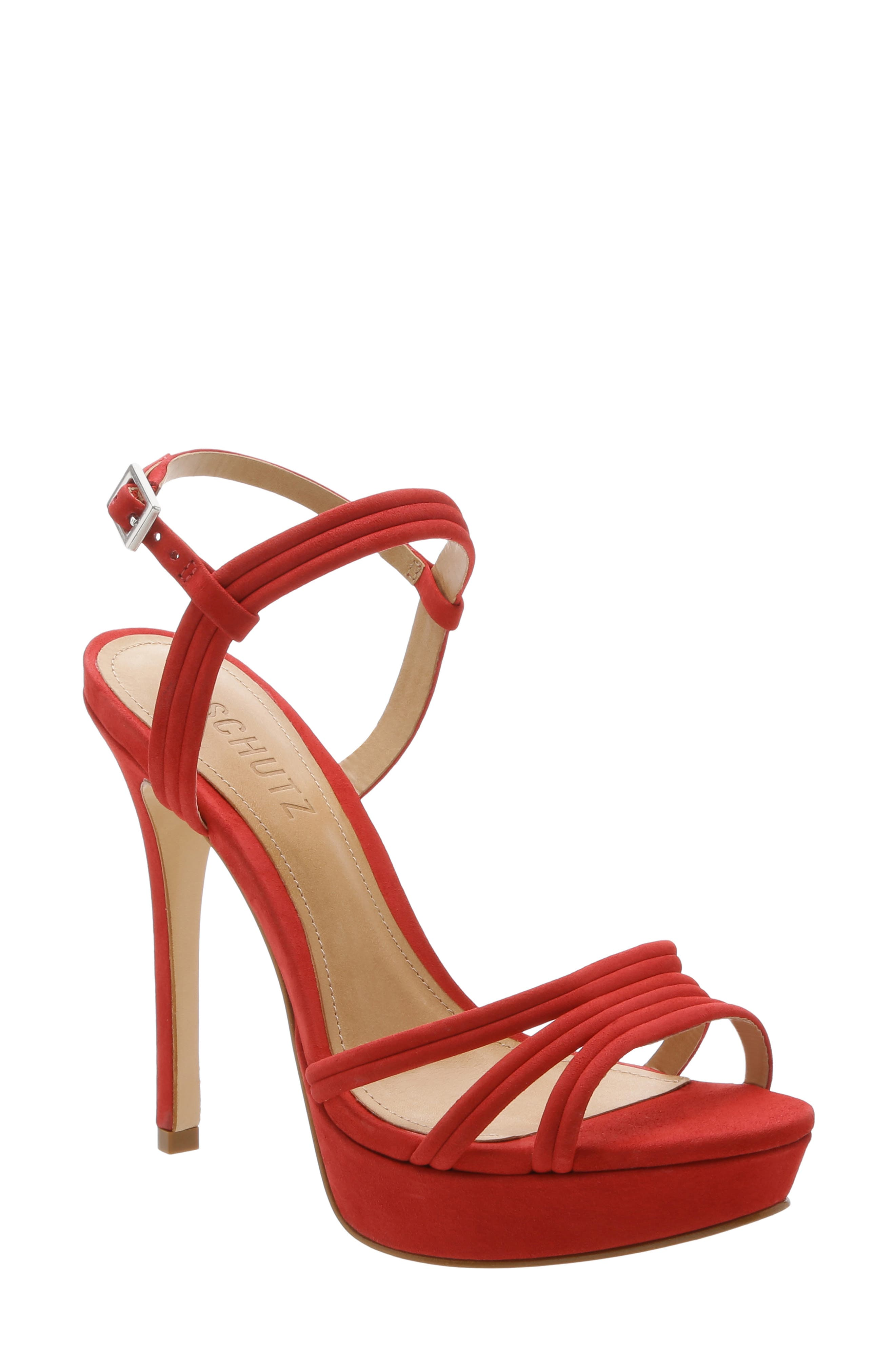 Schutz Bogga Platform Sandal, Red