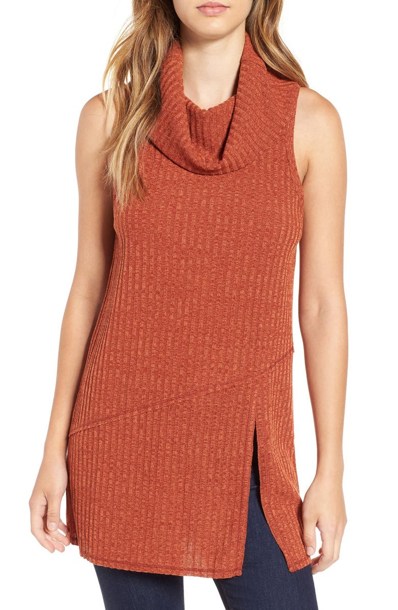 ASTR THE LABEL ASTR Sleeveless Cowl Neck Tunic, Main, color, 200