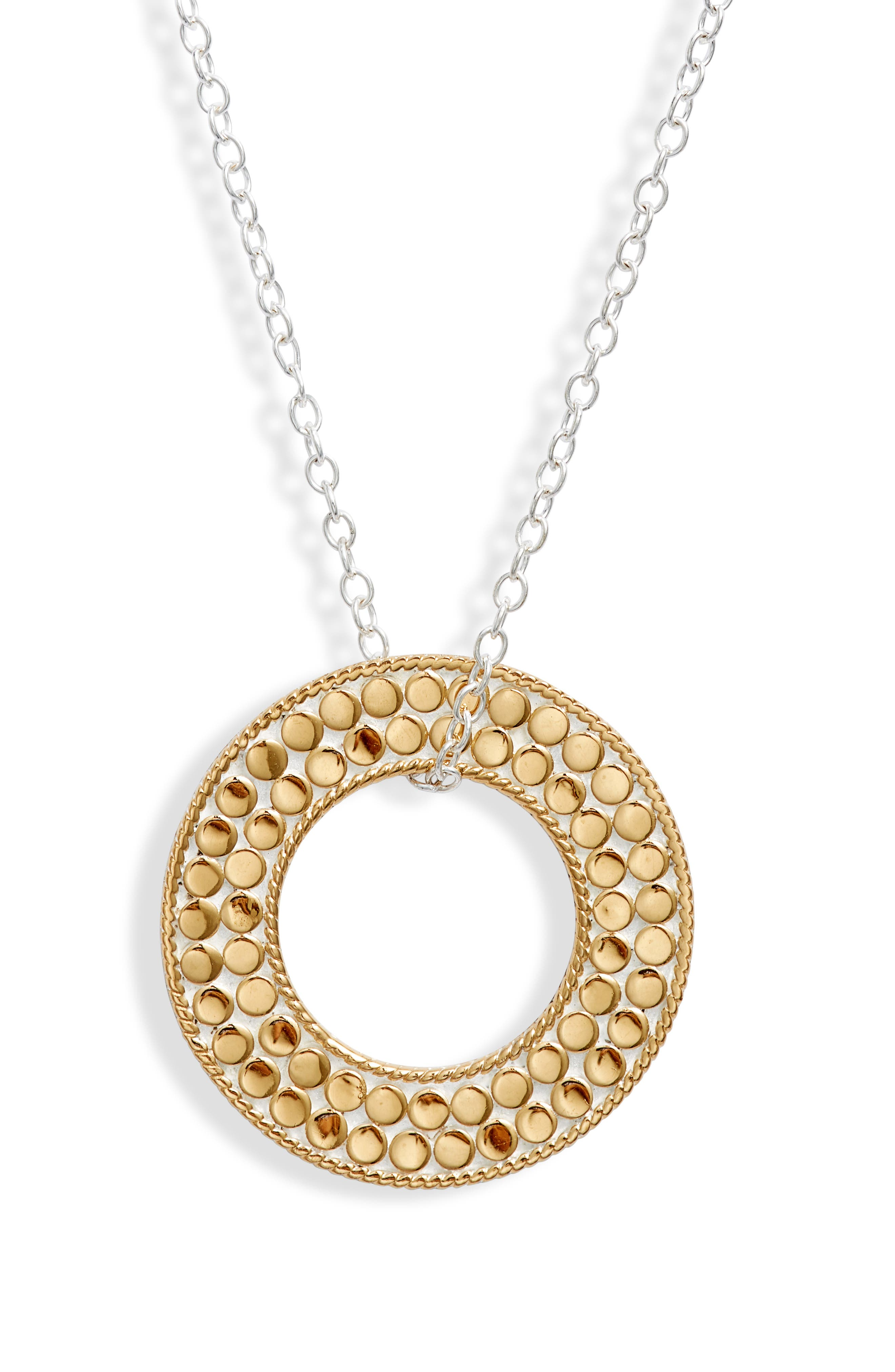 Reversible Flat Open Circle Necklace