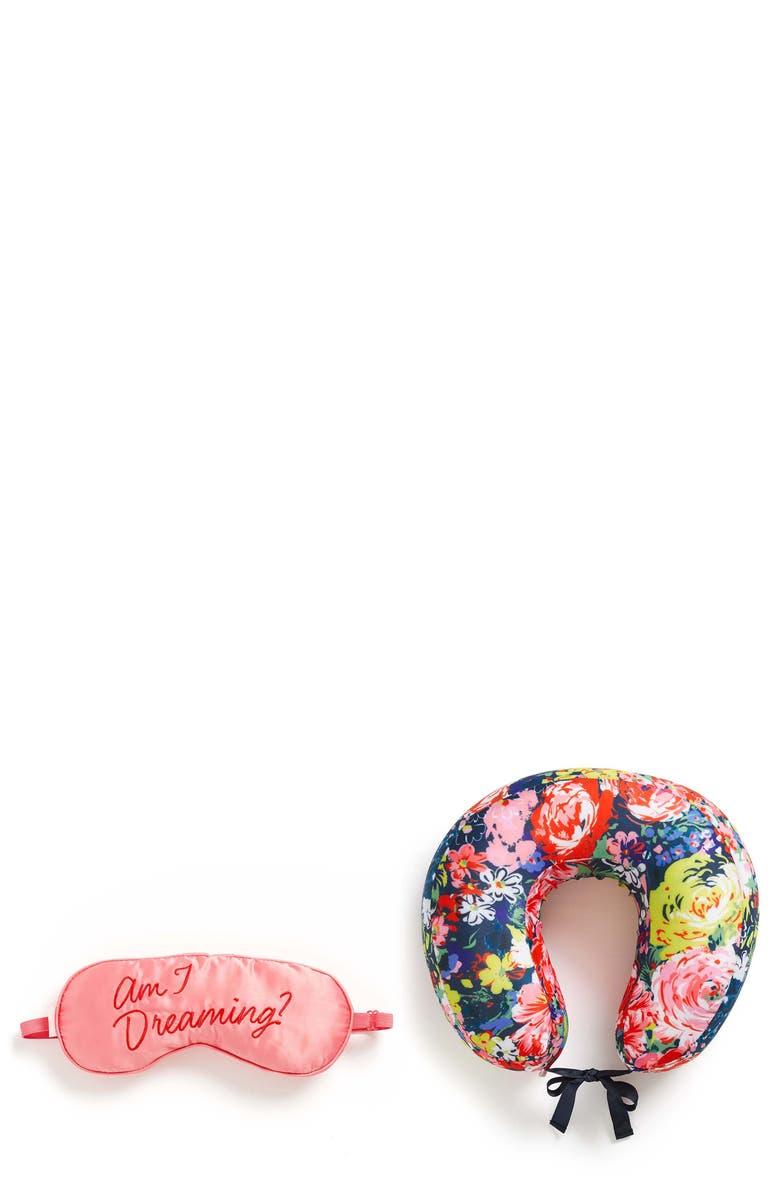 BAN.DO Flower Shop Eye Mask & Neck Pillow Travel Set, Main, color, 400
