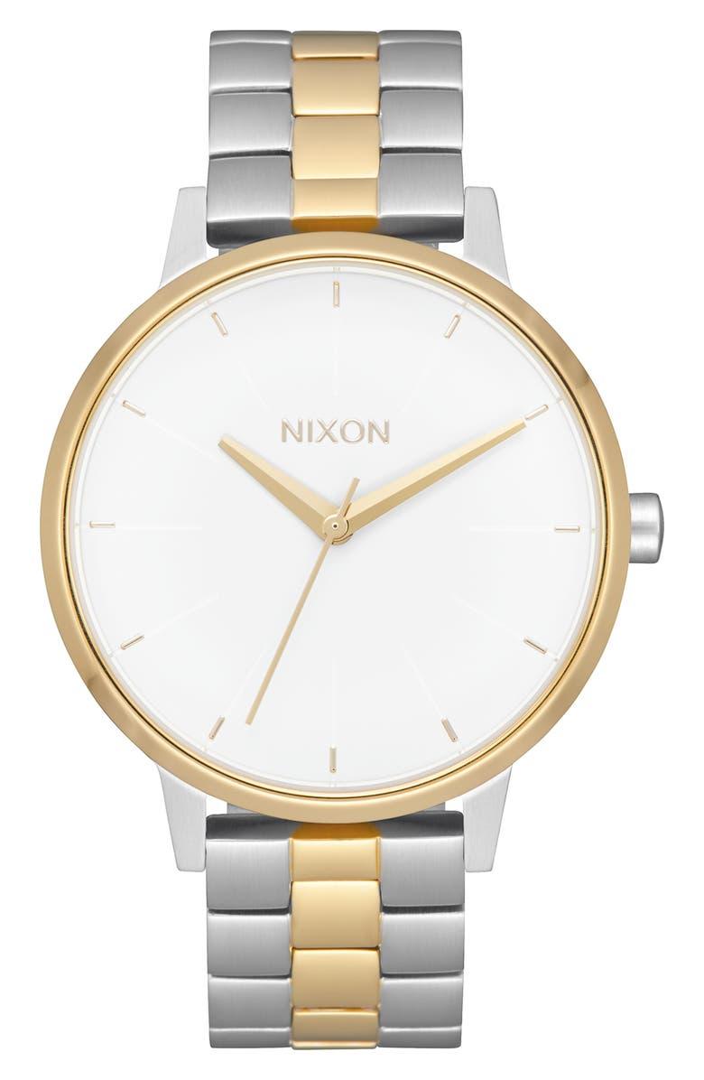 NIXON 'The Kensington' Round Bracelet Watch, 37mm, Main, color, 040