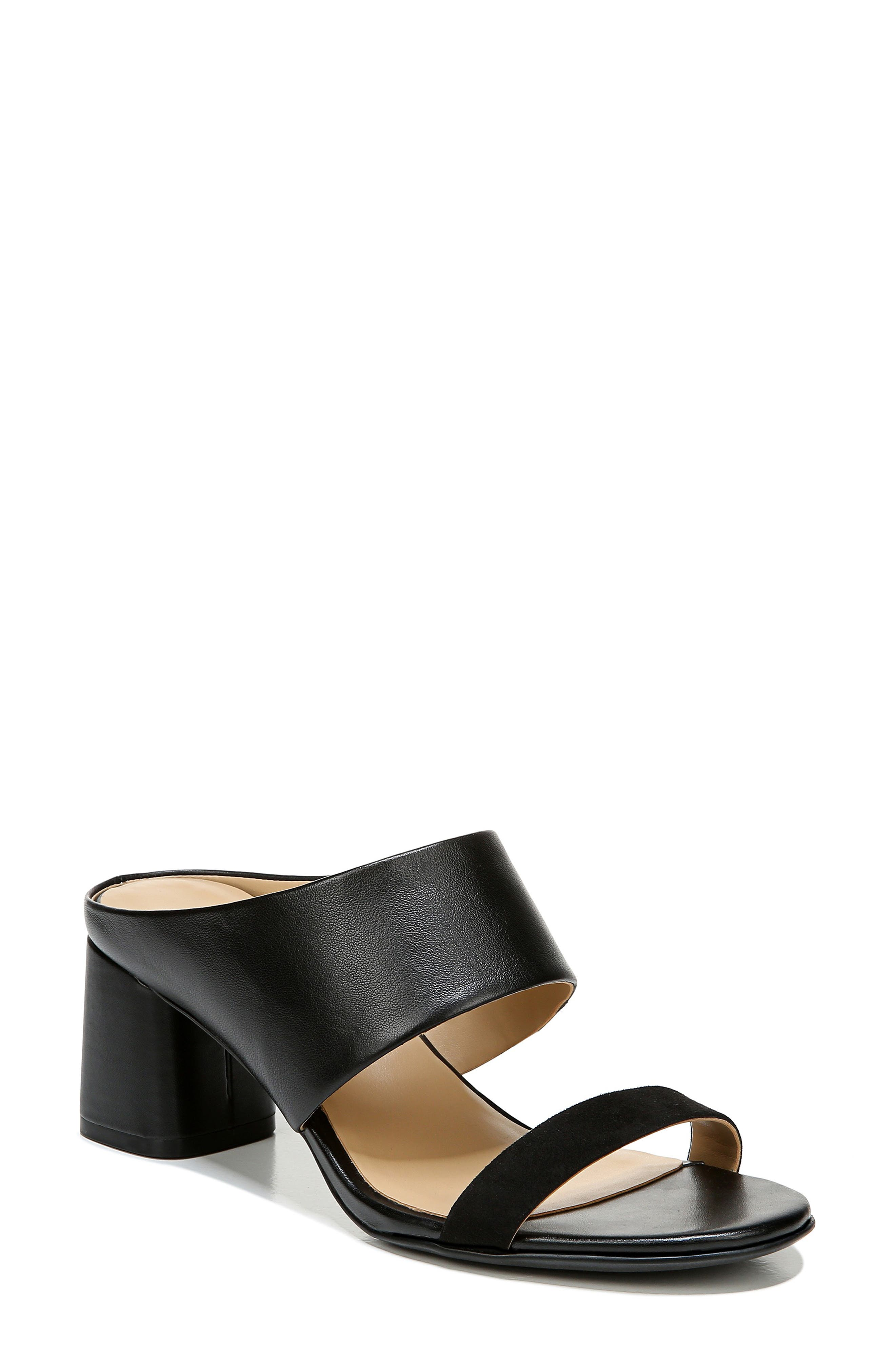An architectural heel lifts a sleek slide designed with Naturalizer\\\'s signature cushioned footbed for endless support and comfort. Style Name: Naturalizer Abbey Slide Sandal (Women). Style Number: 6015138. Available in stores.