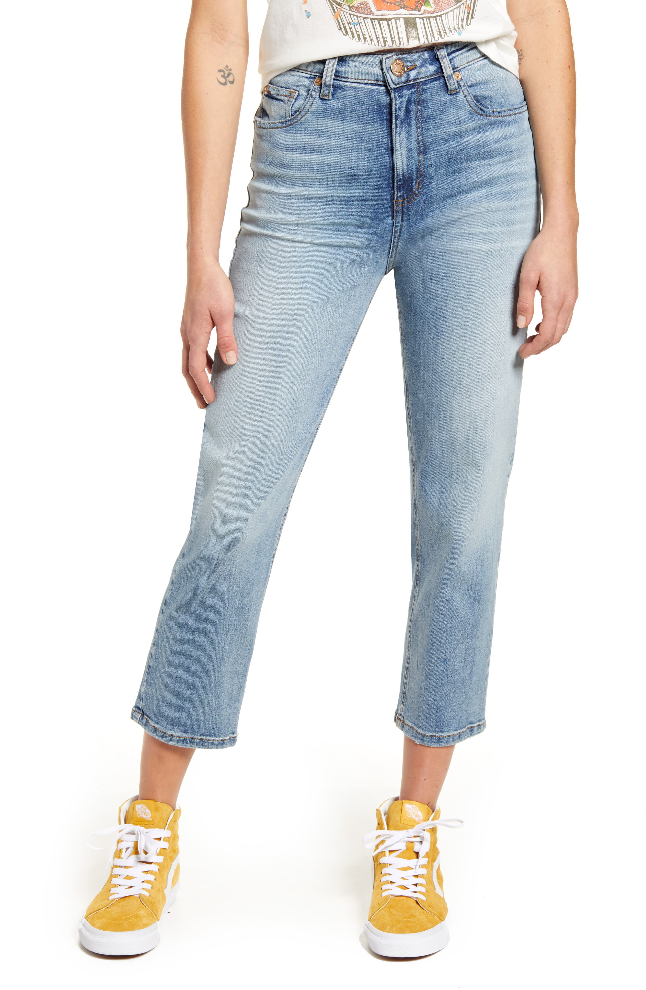 Image of STS BLUE Avery High Waist Crop Straight Leg Jeans
