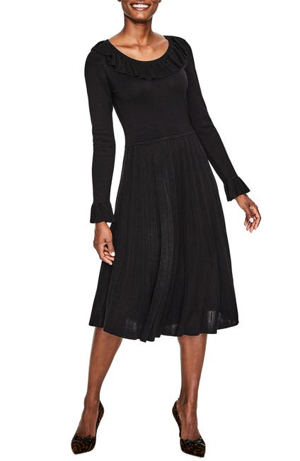 Image of BODEN Lavinia Frill Detail Sweater Dress