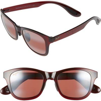 Maui Jim Hana Bay 51mm Polarizedplus2 Sunglasses - Burgundy/ Maui Rose
