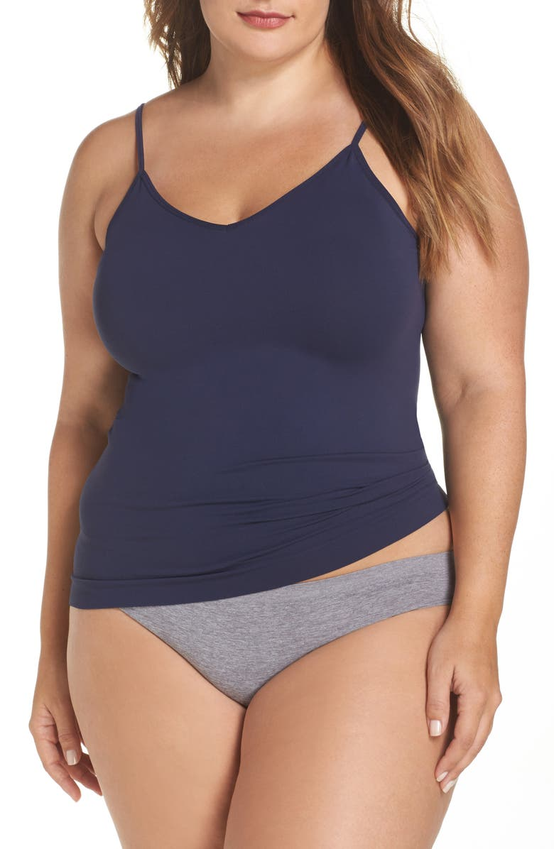 HALOGEN<SUP>®</SUP> Seamless Two-Way Camisole, Main, color, NAVY PEACOAT