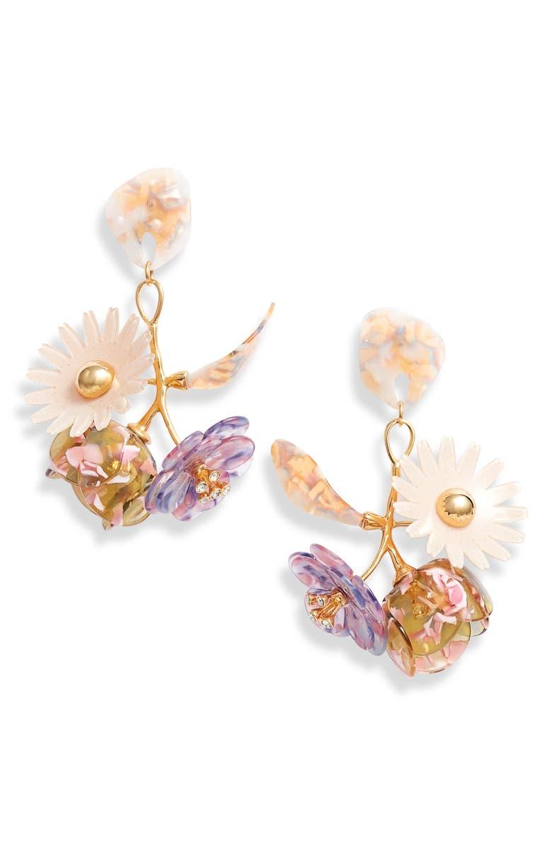 LELE SADOUGHI Rapunzel Bouquet Drop Earrings, Main, color, MARIGOLD MIST