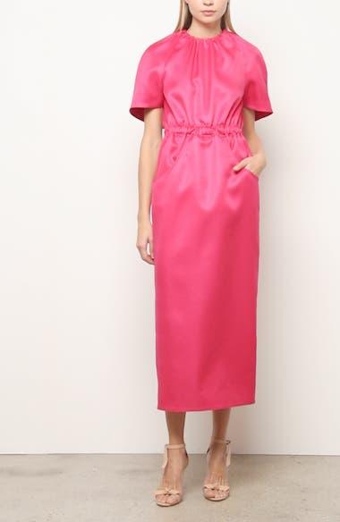 Cape Sleeve Wool & Silk Dress, video thumbnail