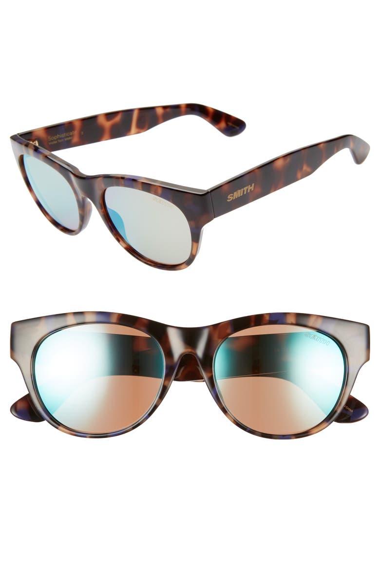 SMITH Sophisticate 54mm ChromaPop<sup>™</sup> Cat Eye Sunglasses, Main, color, 200