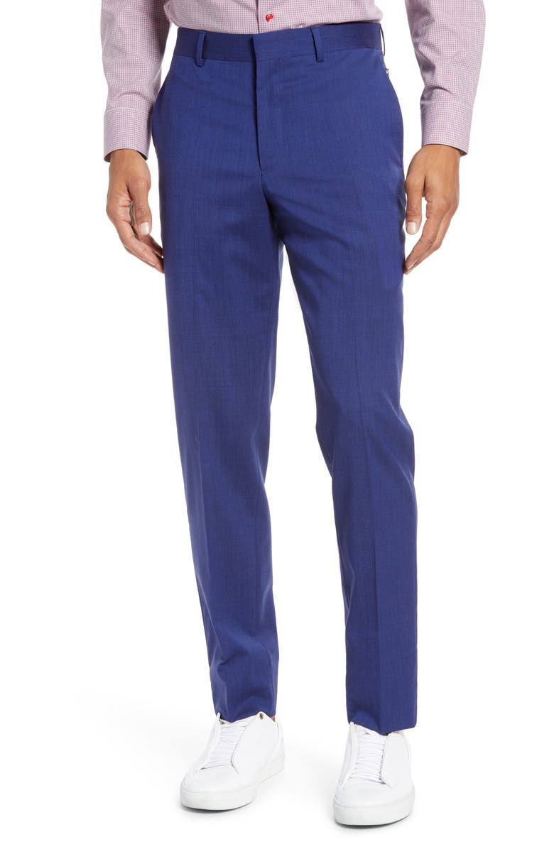 NORDSTROM MEN'S SHOP Tech-Smart Slim Fit Stretch Wool Dress Pants, Main, color, HIGH BLUE