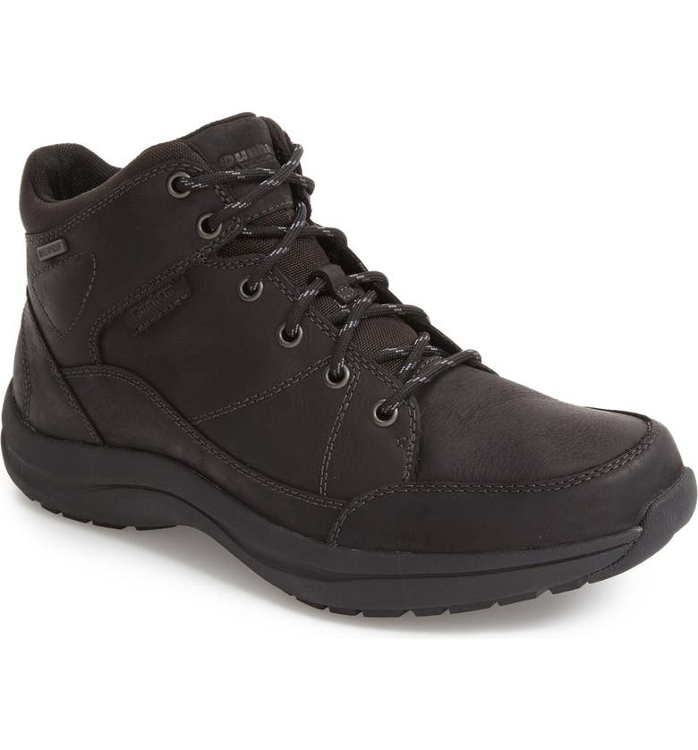 DUNHAM Simon-Dun Waterproof Boot, Main, color, BLACK LEATHER