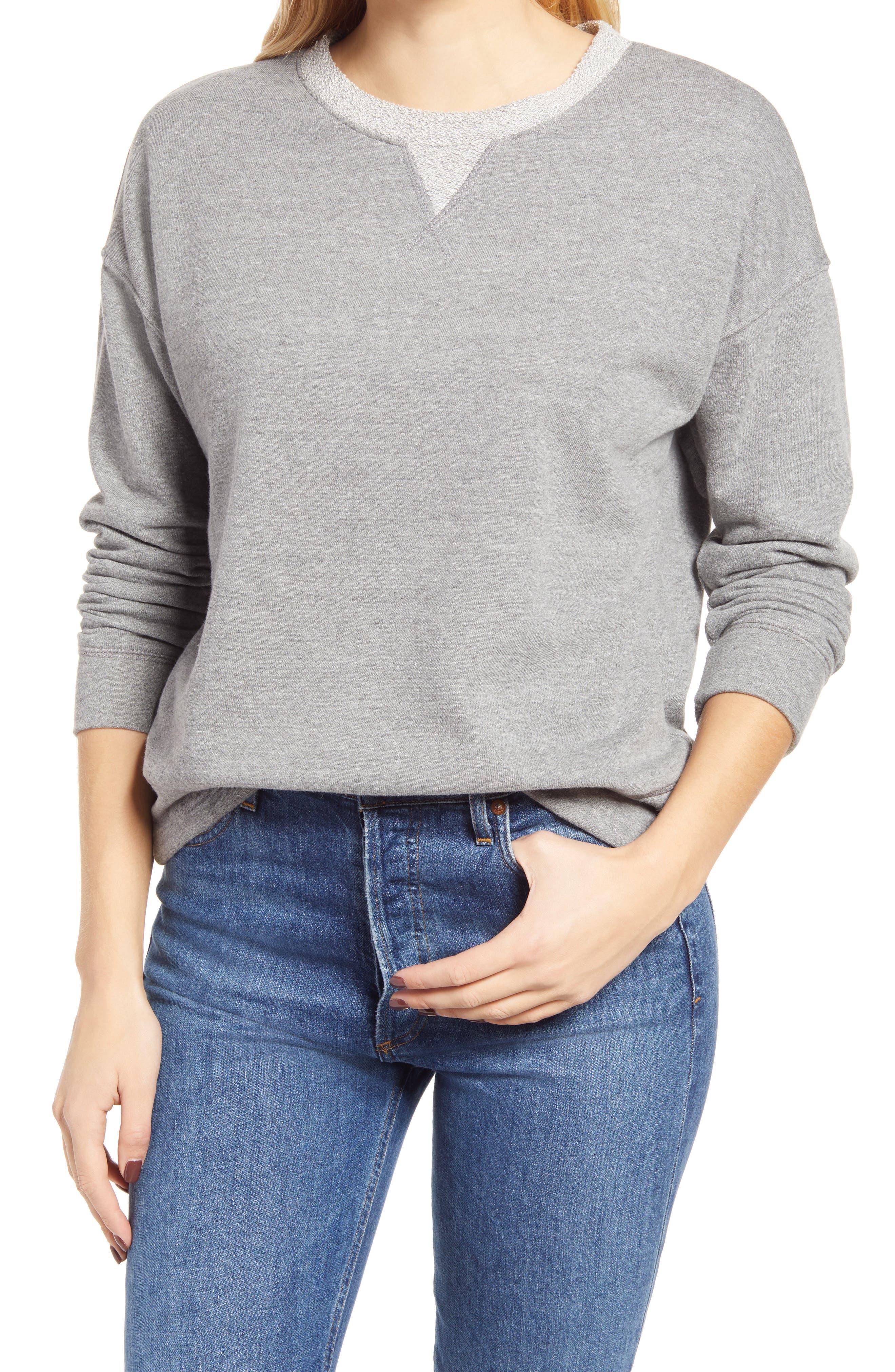 Everleigh Cotton Blend Sweatshirt   Nordstrom