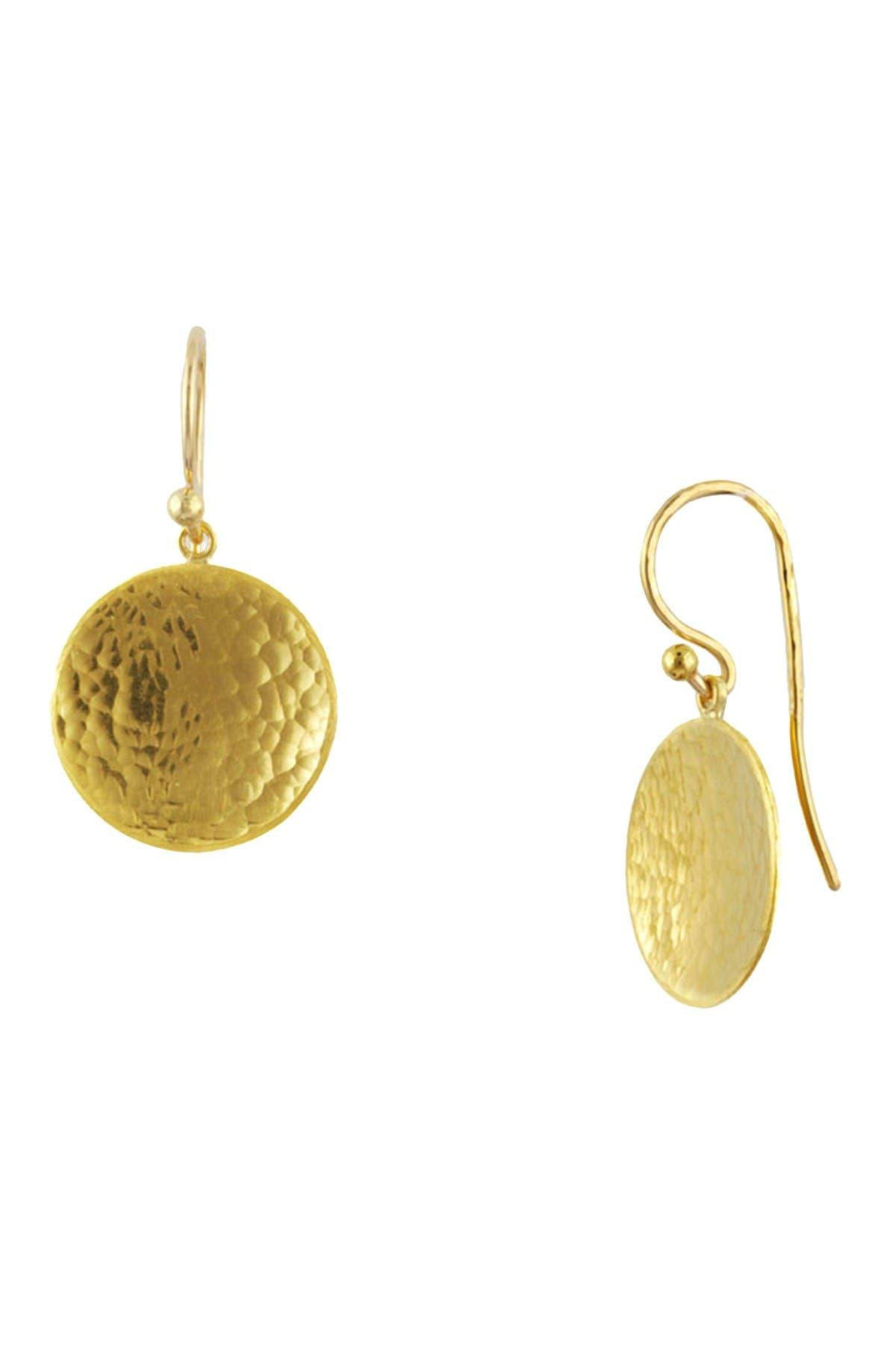 Image of Gurhan 24K Gold Hammered Drop Earrings