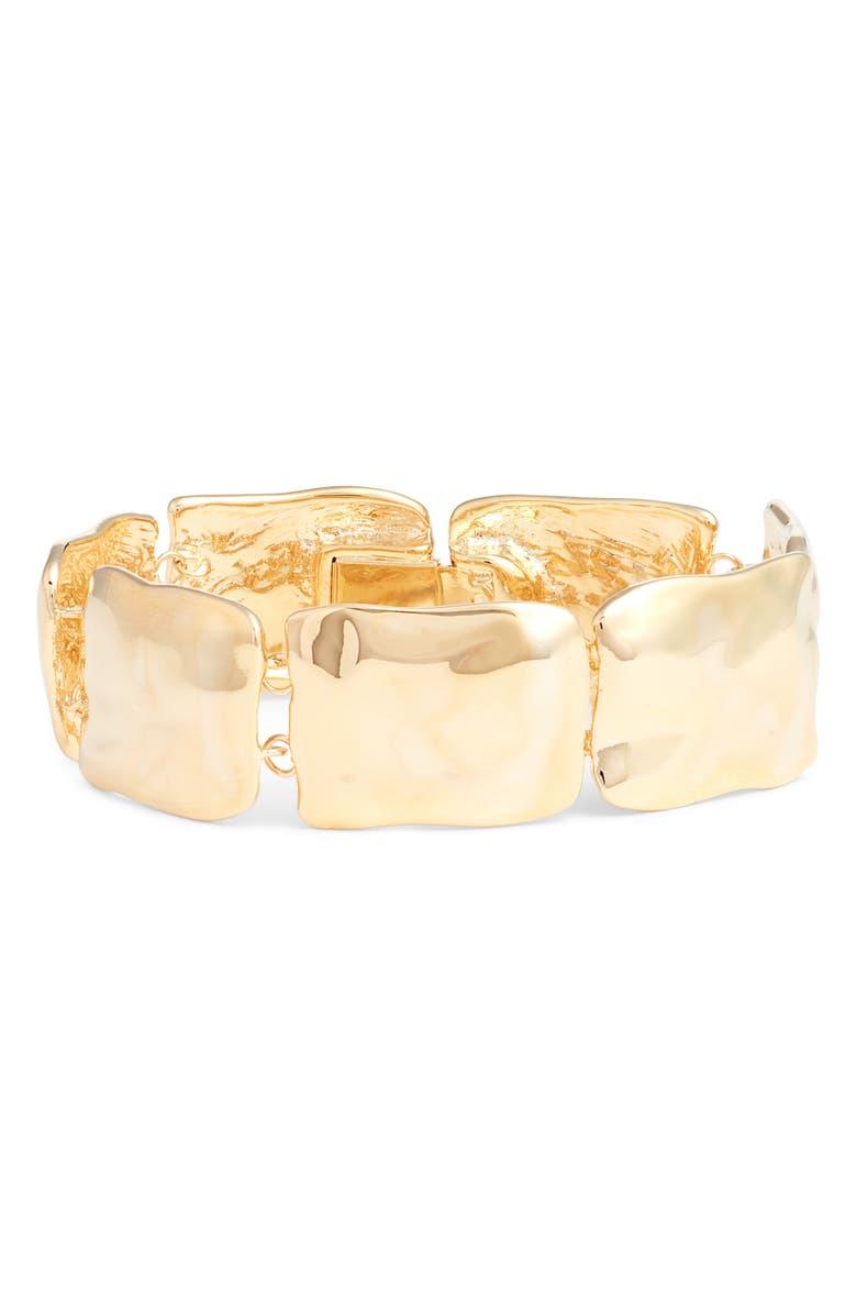 HALOGEN<SUP>®</SUP> Wavy Metal Bracelet, Main, color, GOLD