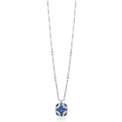 Kwiat Diamond & Sapphire Pendant Necklace