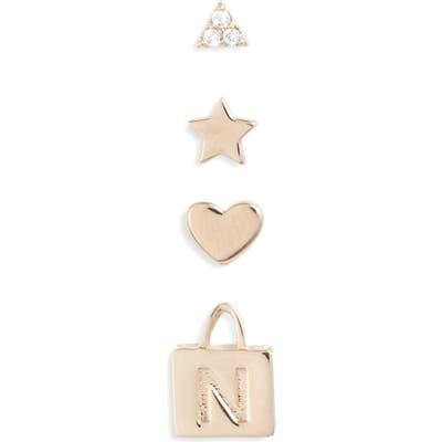 Nordstrom 4-Shape Set Of Stud Earrings