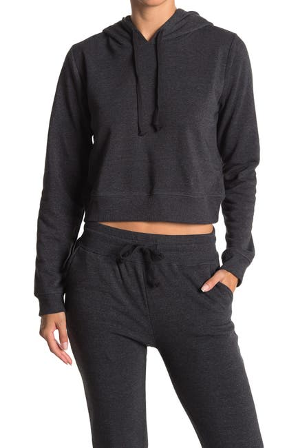 Image of Threads 4 Thought Rose Fleece Crop Hoodie