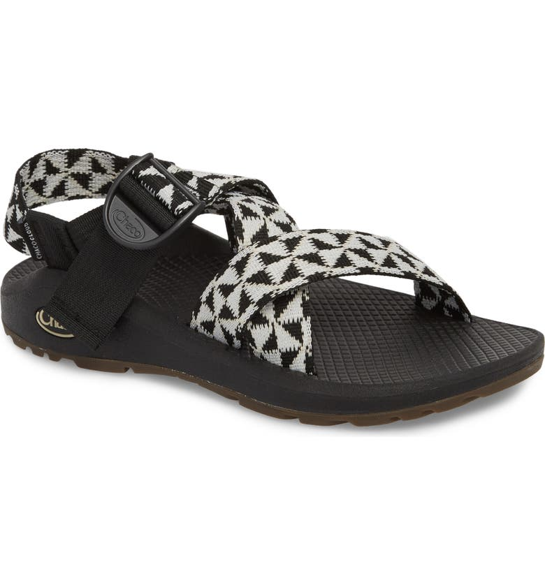 CHACO Mega Z/Cloud Sport Sandal, Main, color, BARRED BLACK / WHITE