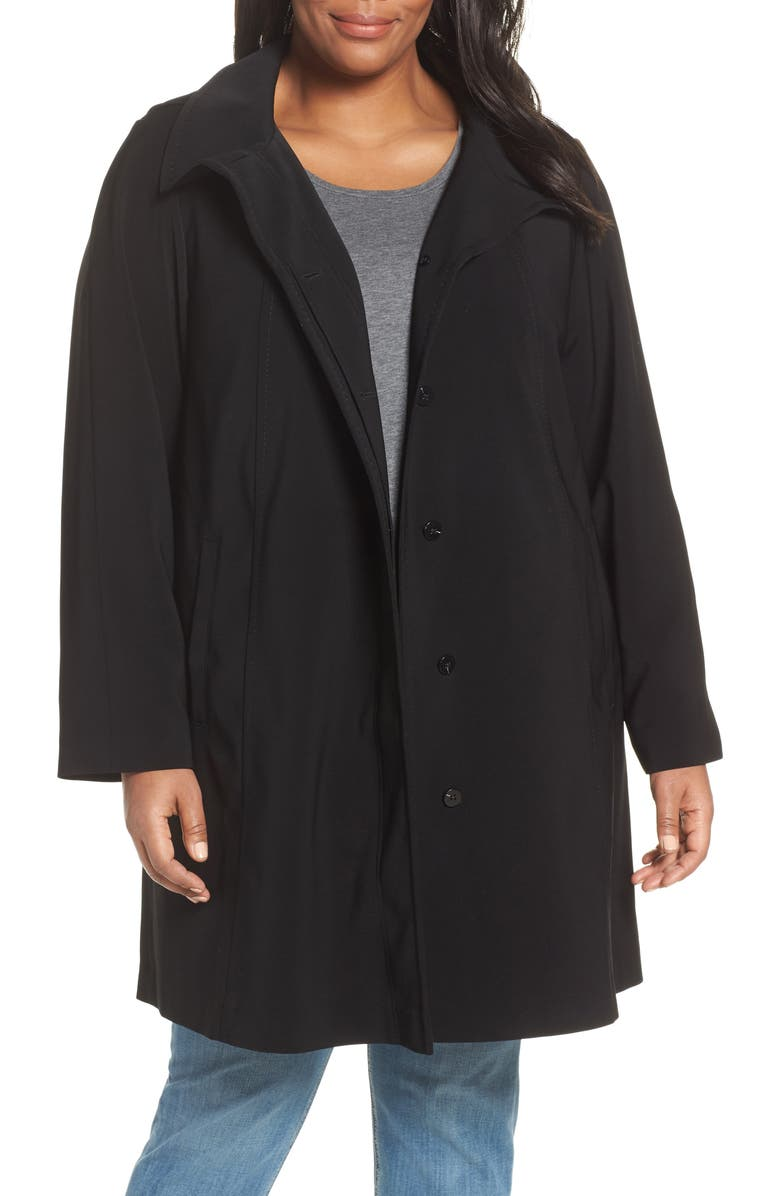 GALLERY Hooded Walking Coat, Main, color, 001