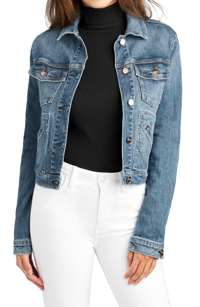 SAM EDELMAN Crop Denim Jacket, Main, color, 423