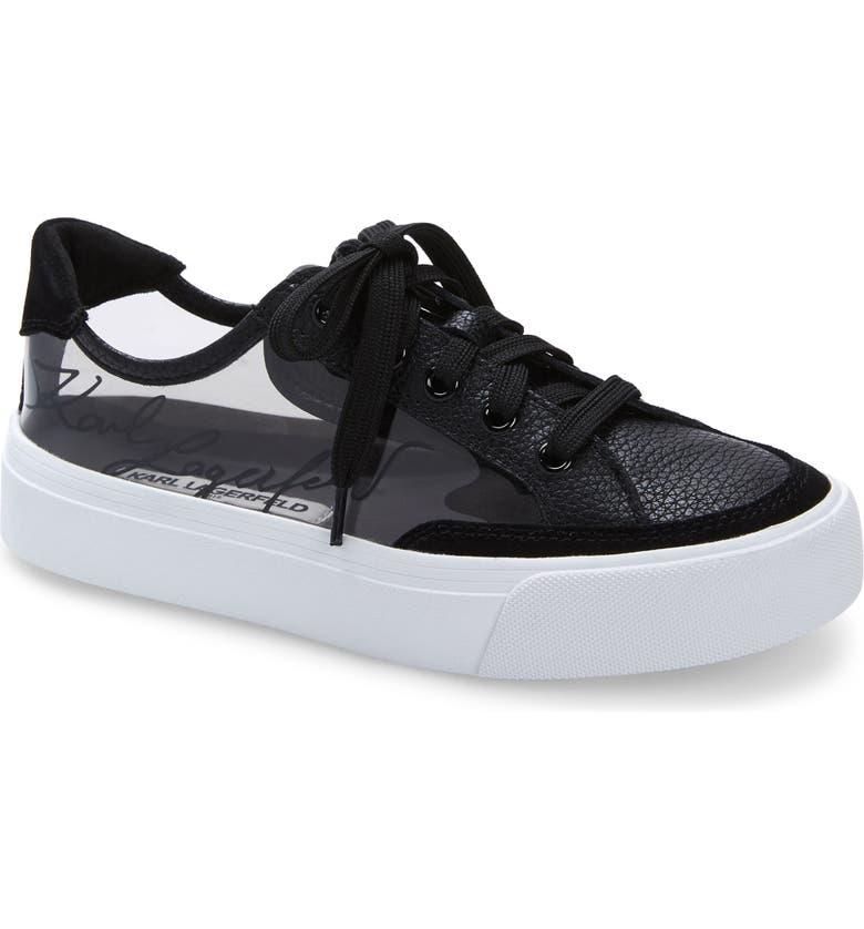 KARL LAGERFELD PARIS Ryley Sneaker, Main, color, 001