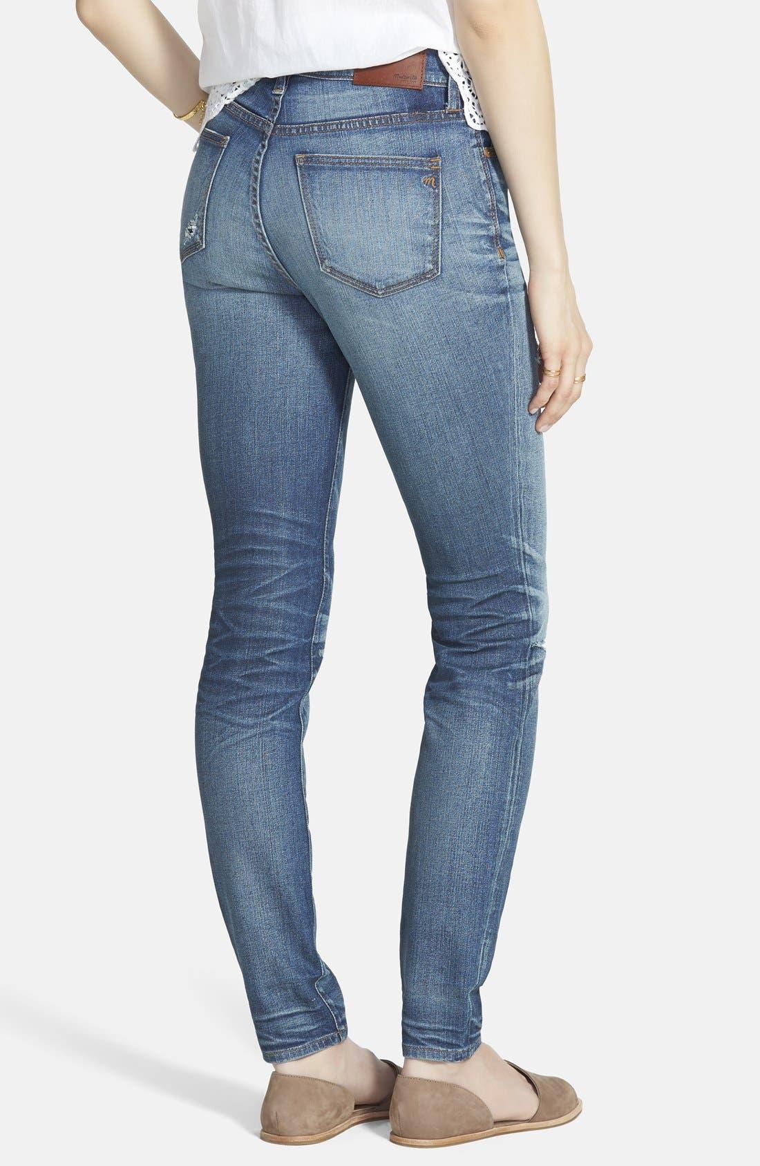 ,                             High Rise Skinny Jeans,                             Alternate thumbnail 3, color,                             400