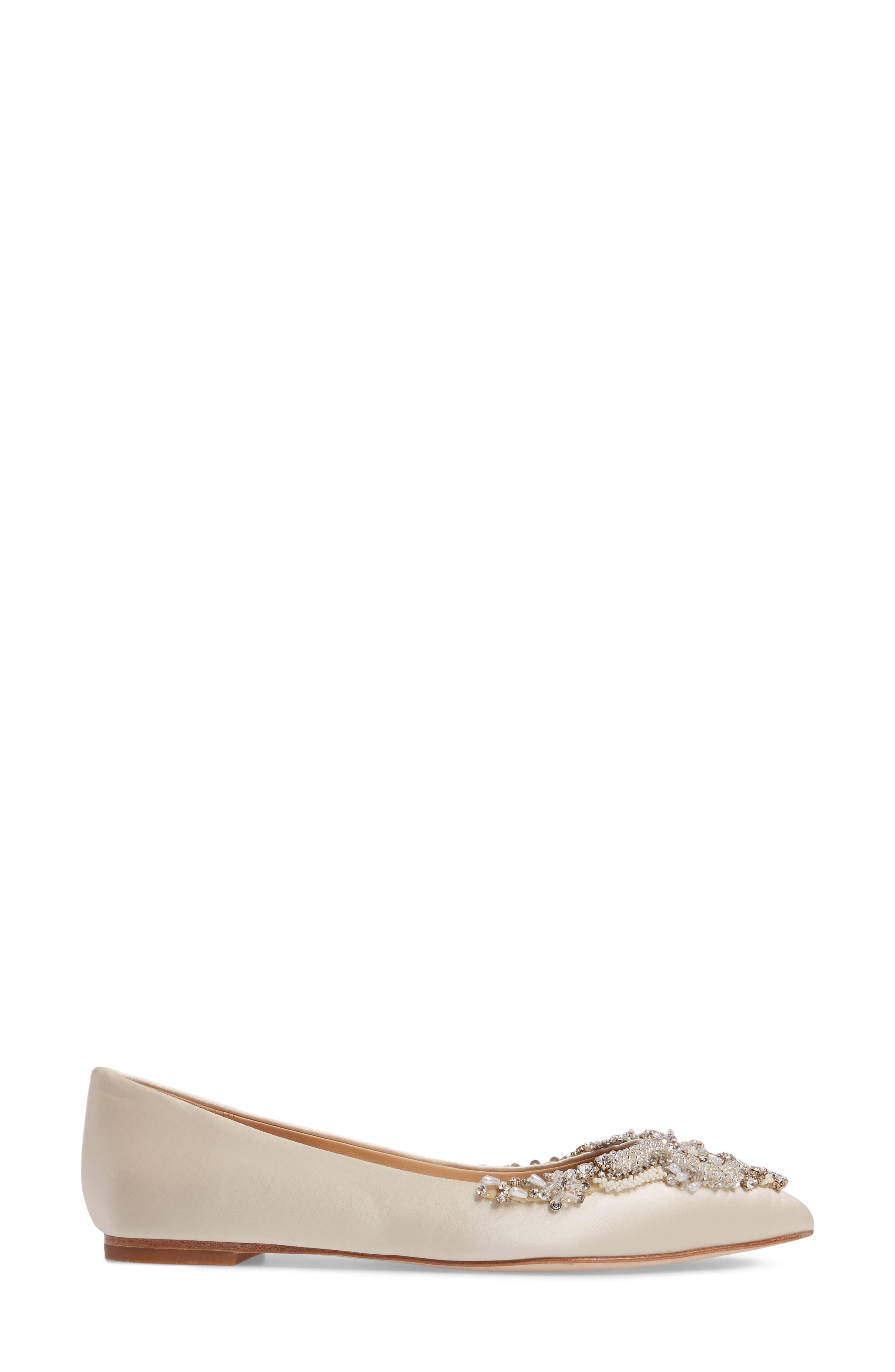 ,                             Badgley Mischka Malena Embellished Flat,                             Alternate thumbnail 15, color,                             900