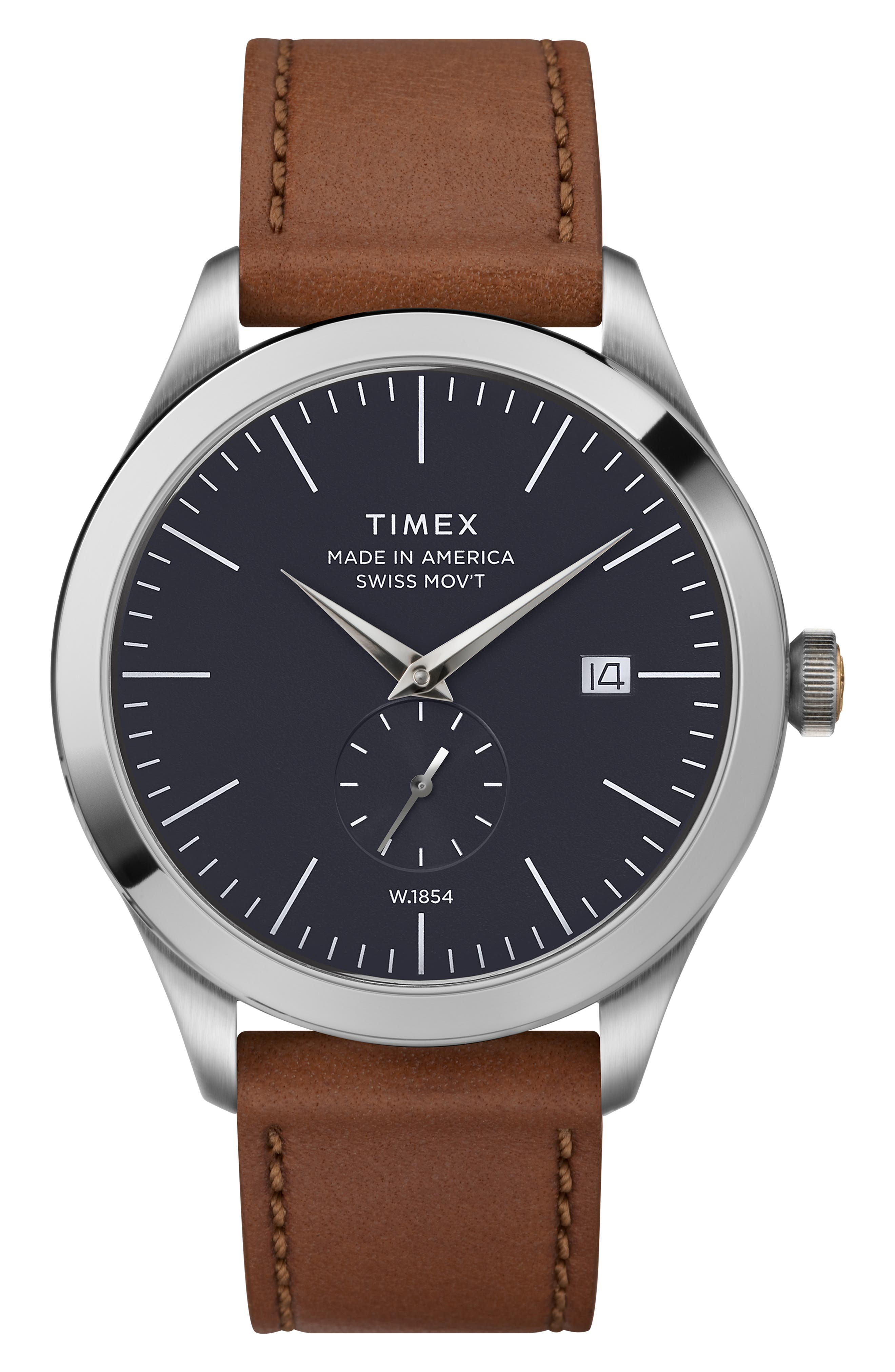 UPC 753048833306 product image for Timex American Documentation Leather Strap Watch, 41Mm | upcitemdb.com