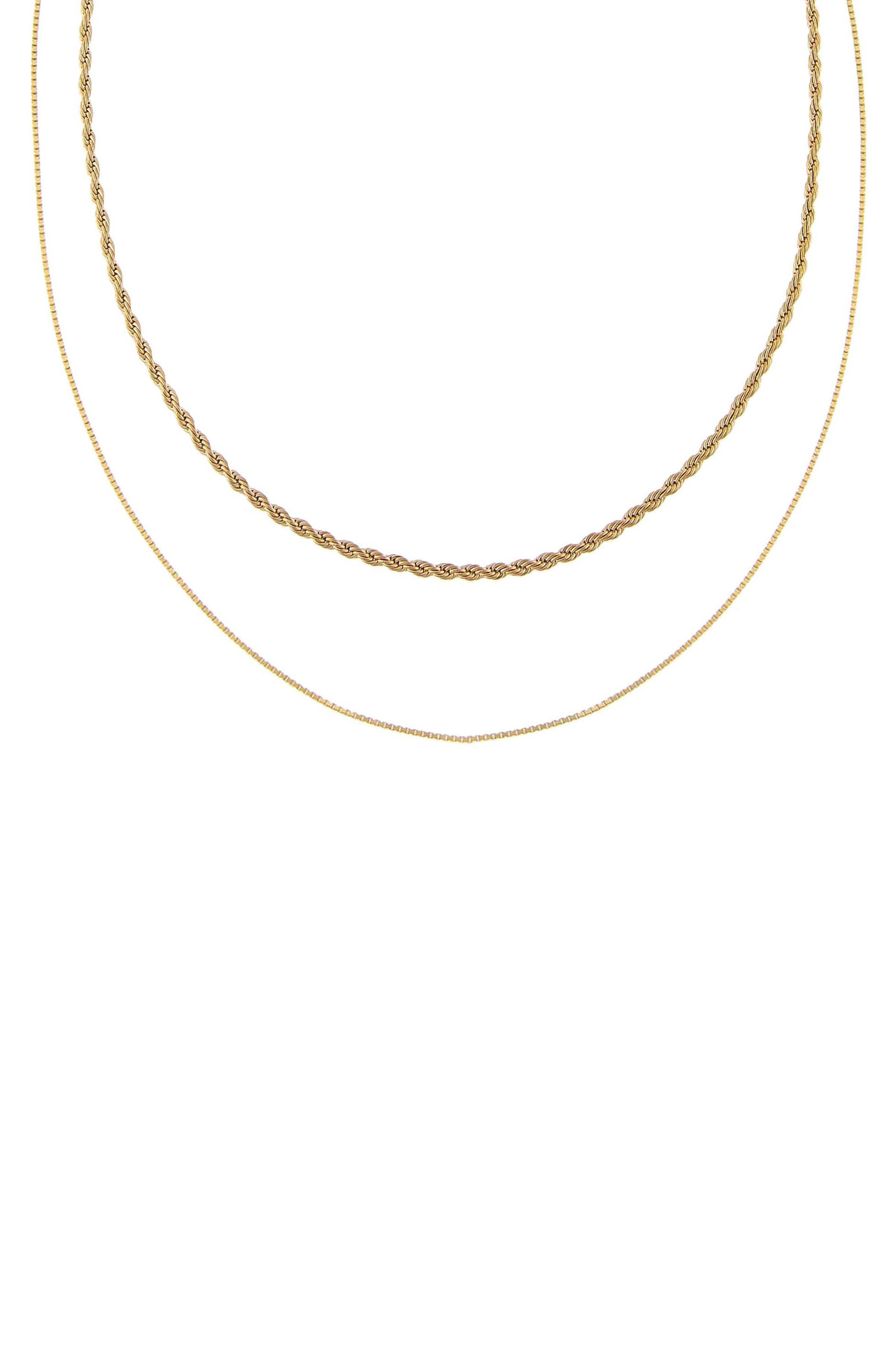 Women's Adina's Jewels Double Chain Link Necklace