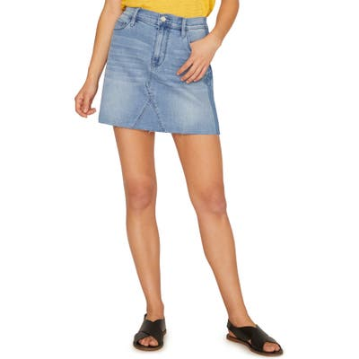 Sanctuary Shadow Denim Miniskirt, Blue