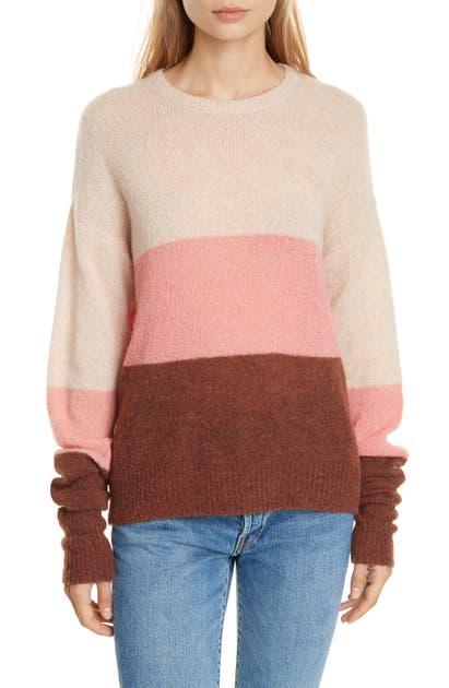 Joie Sweaters MORGEN COLORBLOCK WOOL BLEND SWEATER