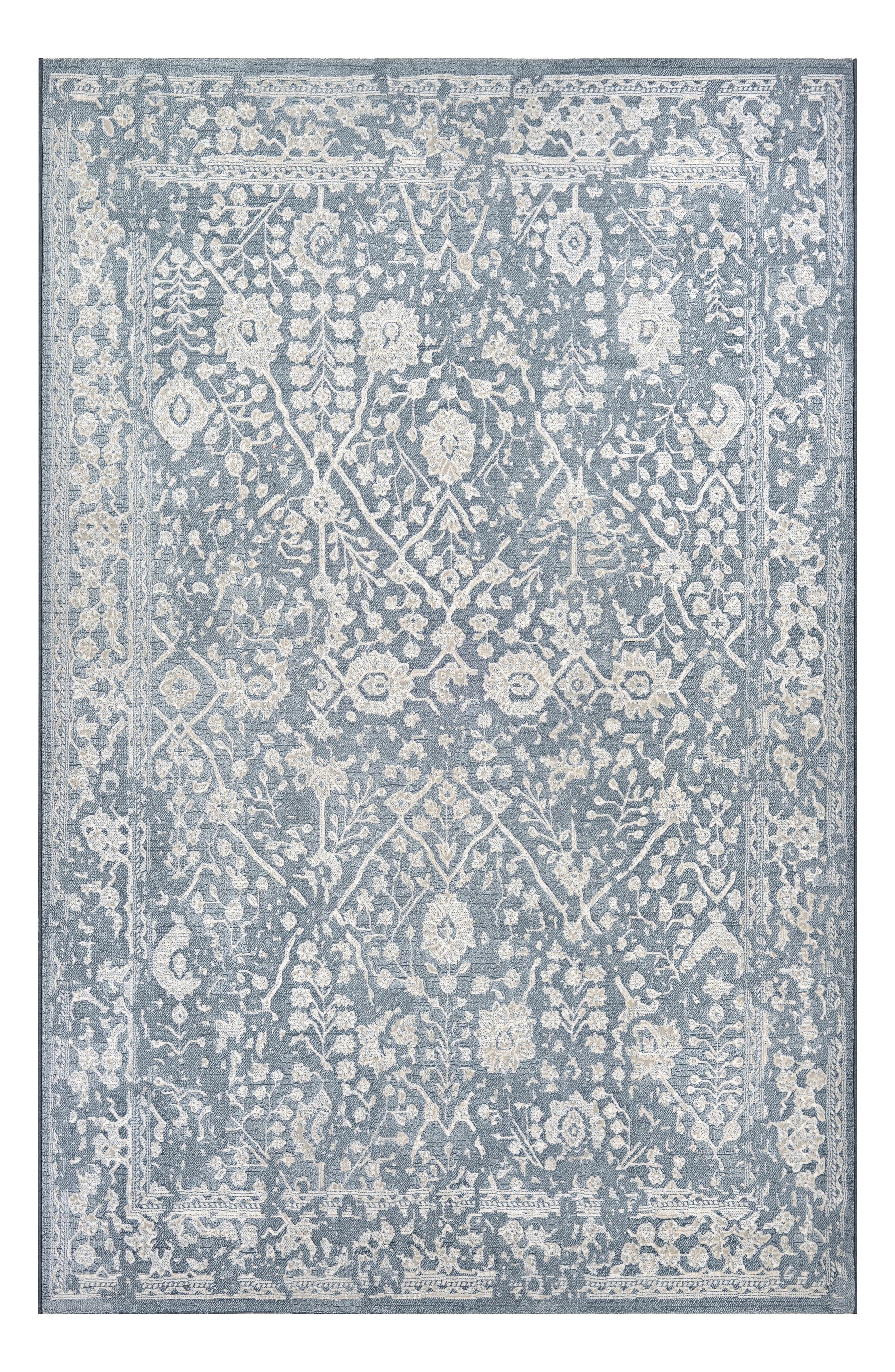 Vintage-inspired floral designs define a versatile rug woven from fade-resistant polypropylene, making it great for high-traffic areas both inside and outside. Style Name: Couristan Lillian Indoor/outdoor Rug. Style Number: 5366850. Available in stores.