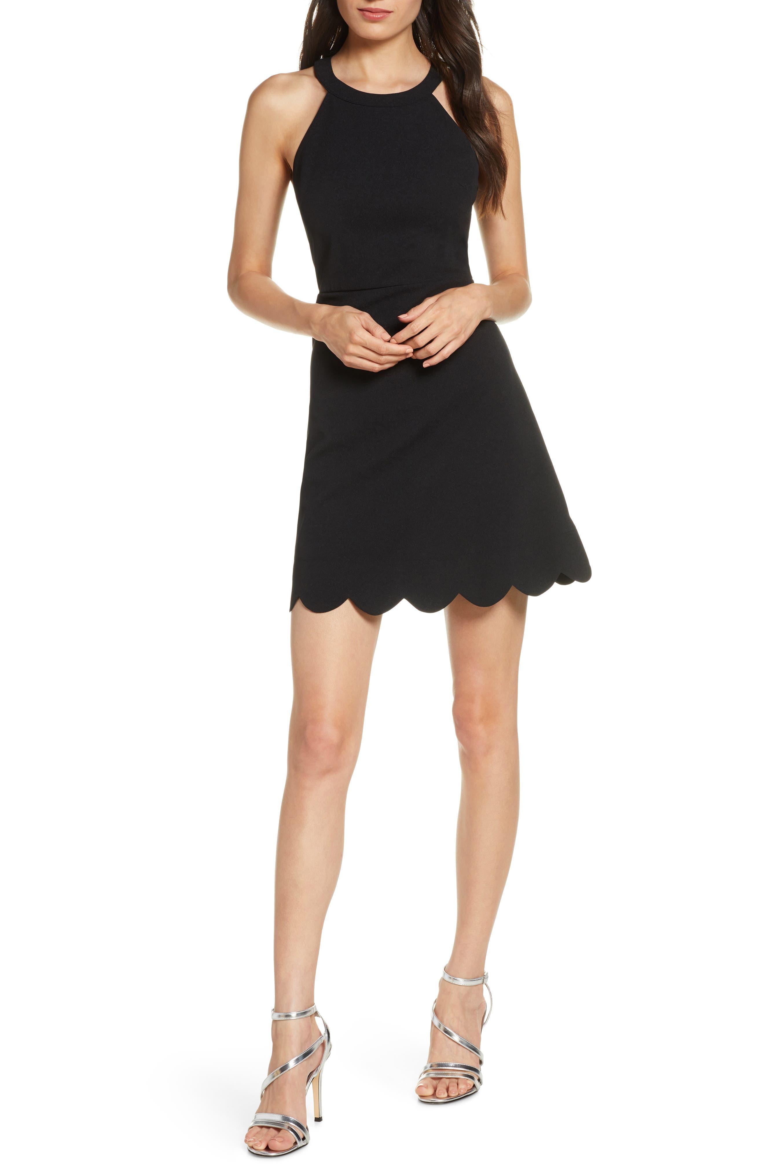 Lulus Mamacita Halter Minidress, Black