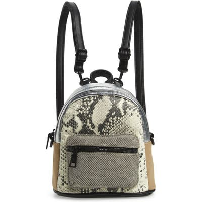 Steve Madden Mini Mixed Media Convertible Backpack - Grey