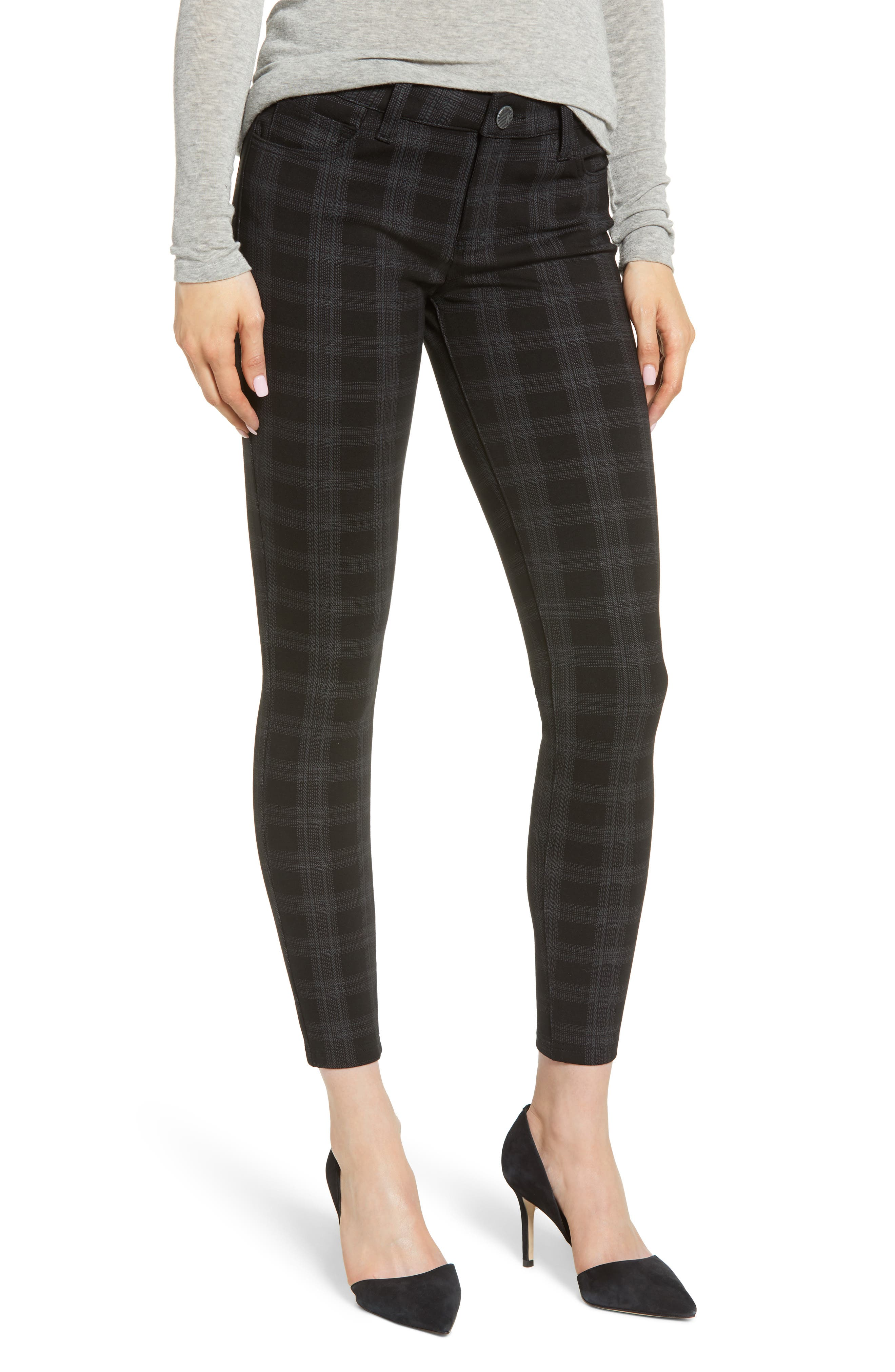 KUT from the Kloth Plaid Skinny Ponte Pants (Regular & Petite)
