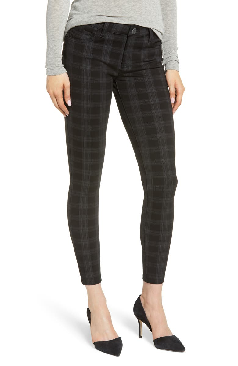 KUT FROM THE KLOTH Plaid Skinny Ponte Pants, Main, color, 021