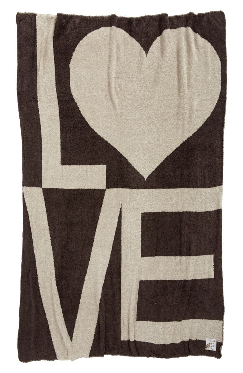 GIRAFFE AT HOME Dolce Love Throw, Main, color, CHOCOLATE/ FLAX