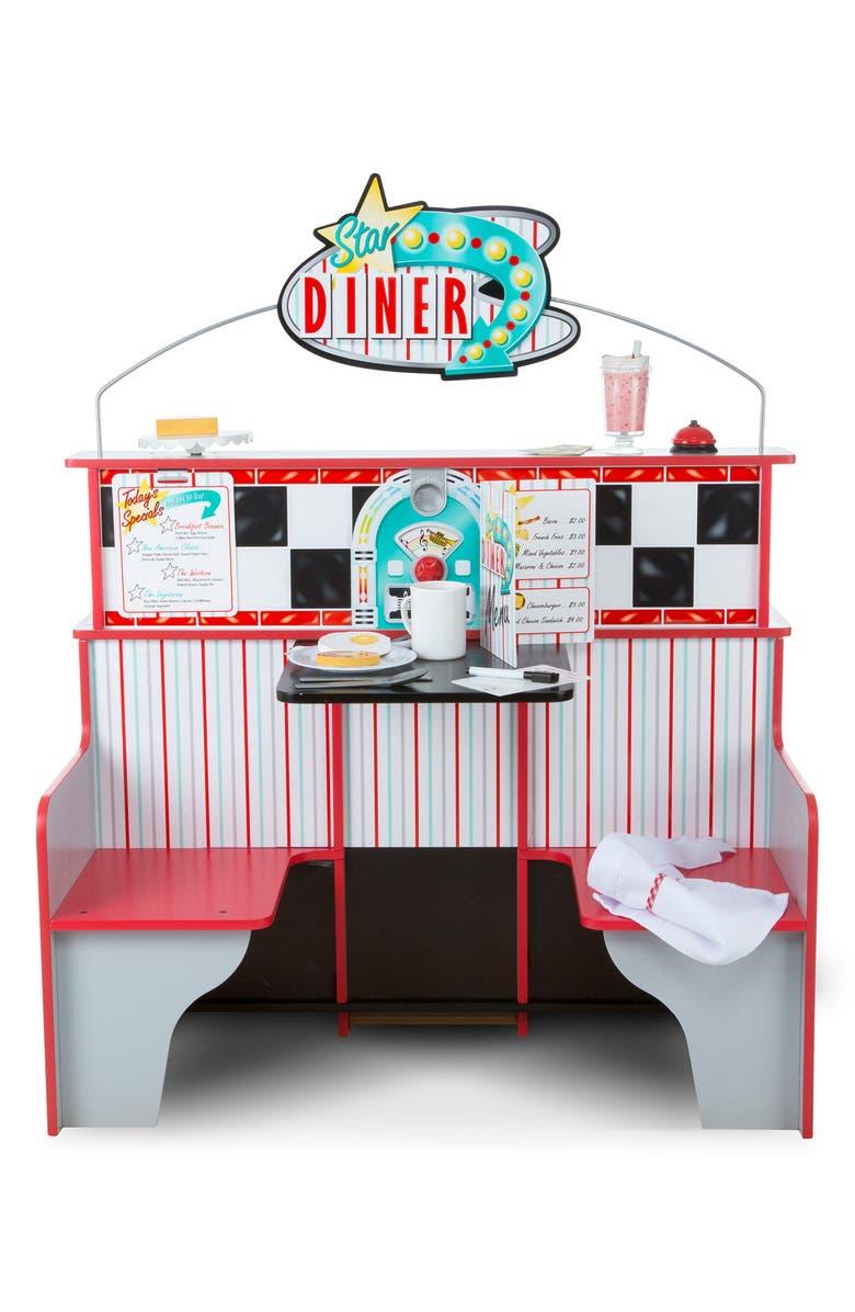 MELISSA & DOUG Star Diner Play Scene, Main, color, WHITE