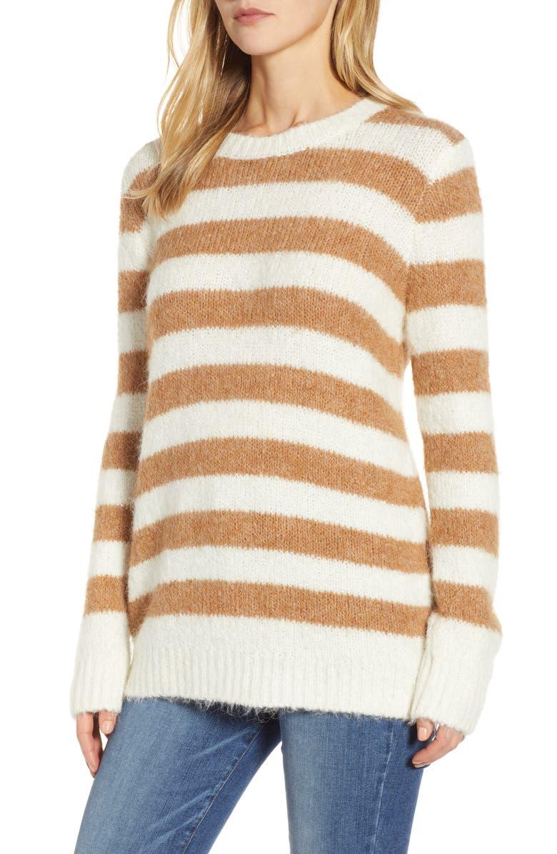 Stripe Plushfuzz Tunic Sweater by Lou & Grey