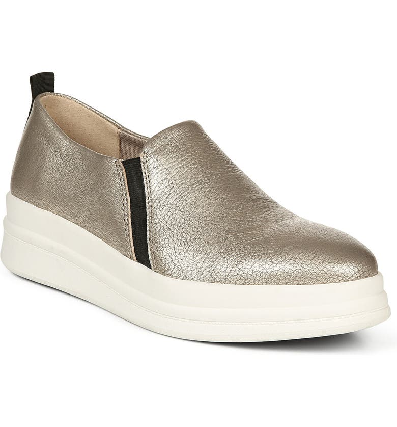 NATURALIZER Yola Slip-On Sneaker, Main, color, ZINC METALLIC LEATHER