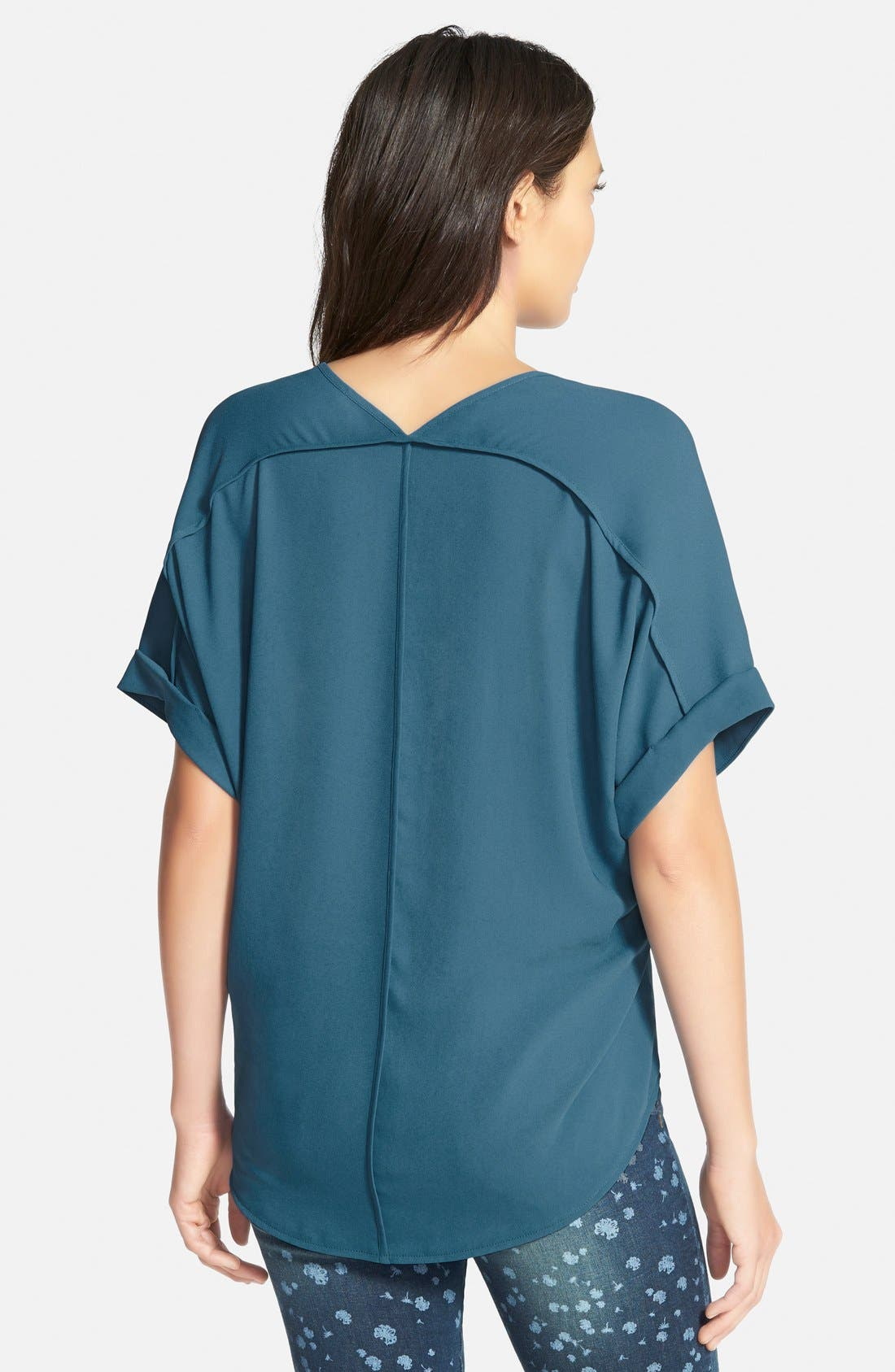 ,                             Lush Cuff Sleeve Woven Tee,                             Alternate thumbnail 79, color,                             405