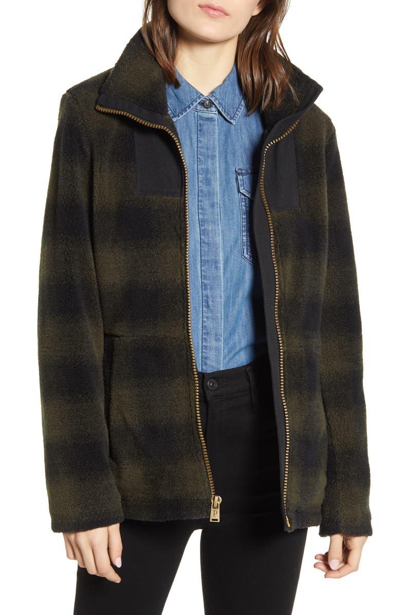 PENDLETON Brooke Fleece Jacket, Main, color, OLIVE OMBRE