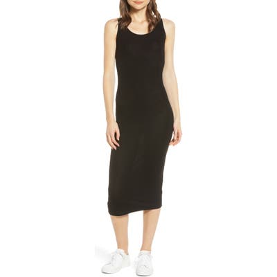 Ag Viden Ribbed Tank Dress, Black